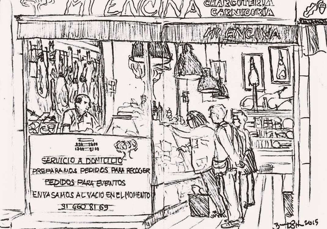 dibujo de la charcuteria | Carnicería mi encina